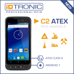 Press Release: iDTRONIC's Handheld Computer C2 ATEX - Robust ATEX Certified RFID Handheld for explosion-proof Areas