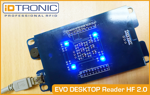 Press Release: iDTRONIC's EVO Desktop Reader HF 2.0 - Modern Technology meets timeless Design: One Device perfectly equipped for IoT and Industry 4.0 Applications with HID & VCP
